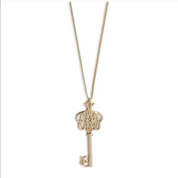 Vera Bradley Jewelry - Vera Bradley Signature Long Key Necklace -Gold
